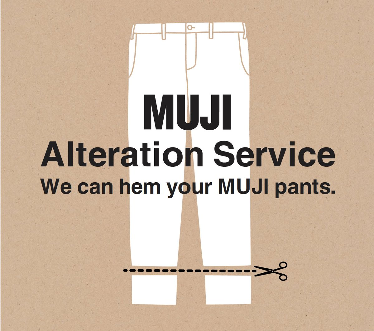 b348f632bff MUJI Third Street Promenade will be the first on the West Coast to offer  Alteration Services for MUJI pants and Embroidery Services with over 300 ...