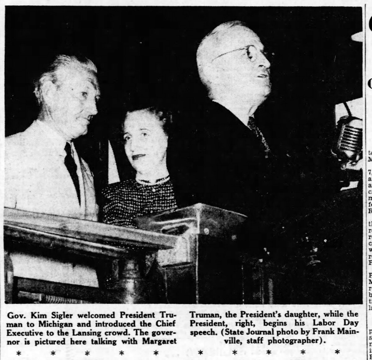 1948 : President Truman Makes Campaign Stop in Lansing