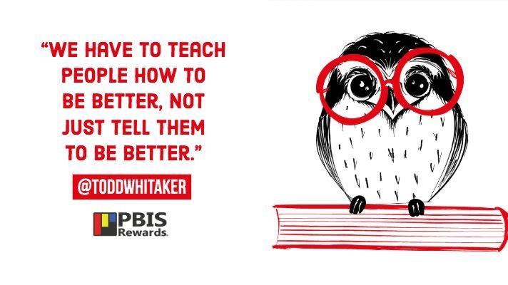 'We have to teach people how to be better, not just tell them to be better.' @ToddWhitaker