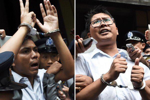 Soutenons les journalistes birmans condamnés à 7 ans de prison juste pour avoir fait leur travail!!