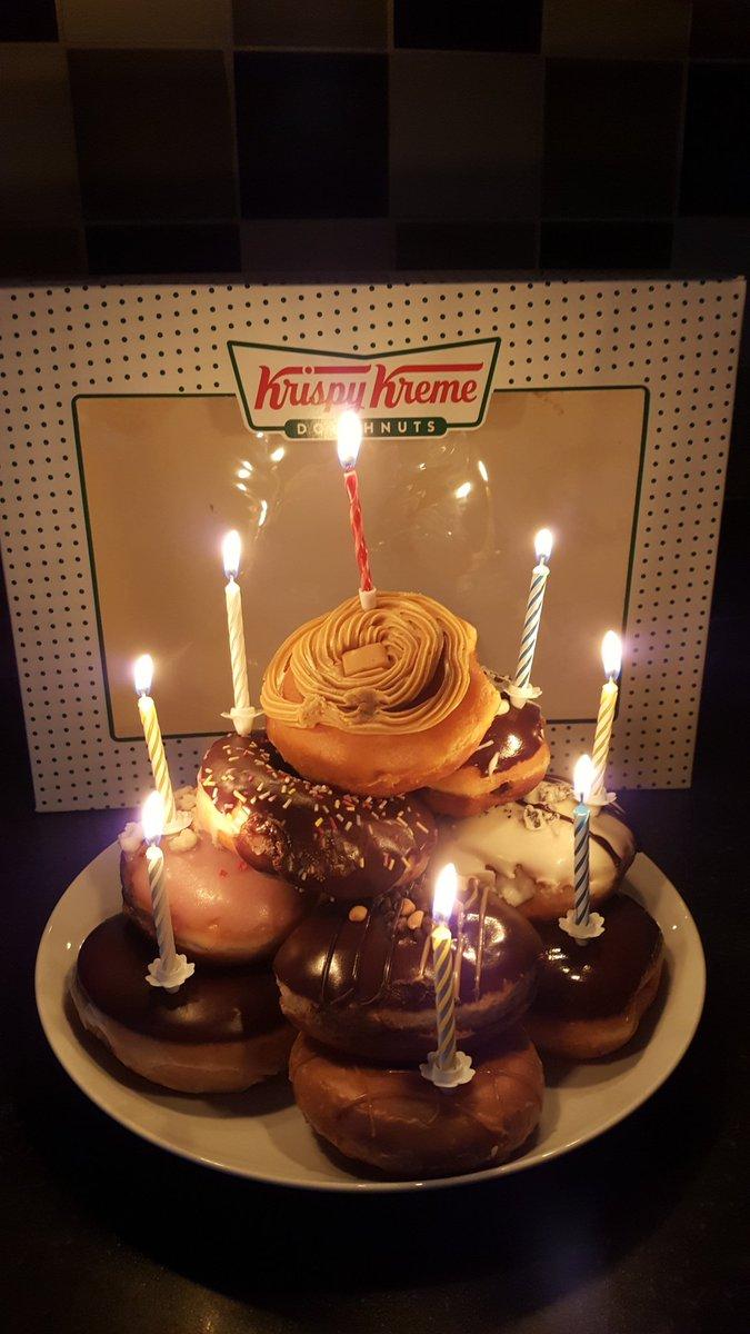 Swell Krispy Kreme On Twitter Yum Tell Her We Said Happy Birthday Funny Birthday Cards Online Alyptdamsfinfo