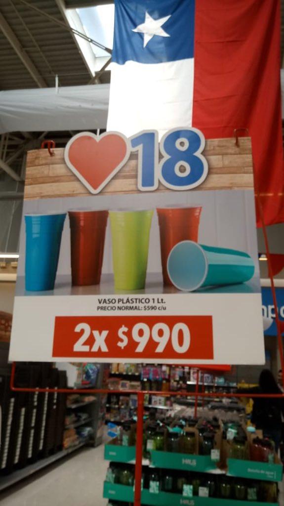 Vasos de plastico de 1 litro