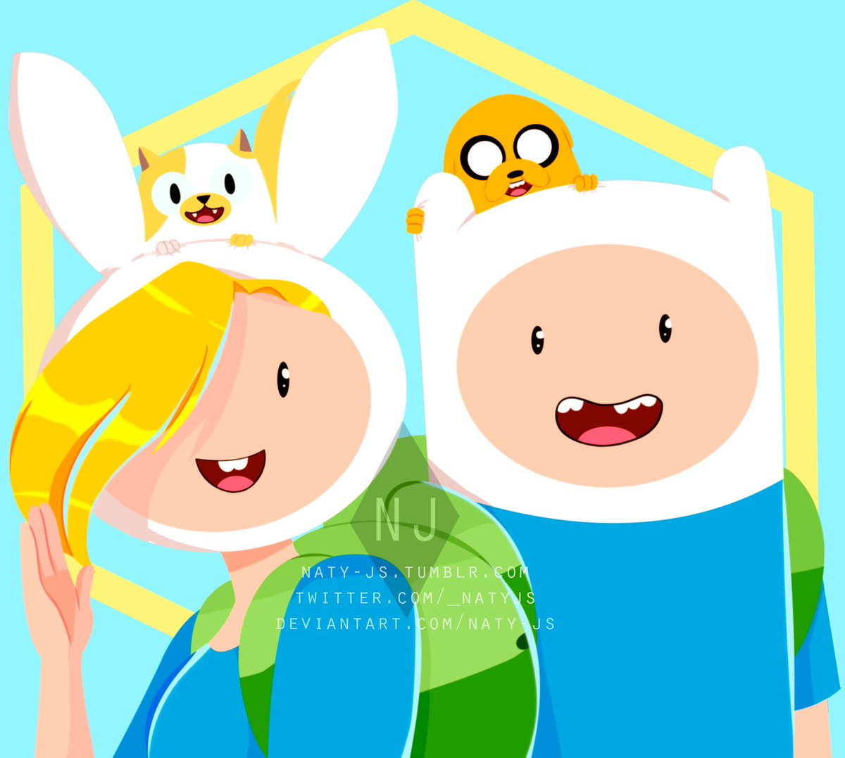 """Adventure Time Finn And Fionna naty-js 🐣 on twitter: """"fionna and finn ~ adventure time is"""