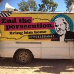 'End the persecution. Bring him home. #FreeAssange'  Very cool new traveling mural on @GraemeDunstan's Peacebus in Australia. https://t.co/0IW4whrEvF #Artists4Assange #WikiLeaks