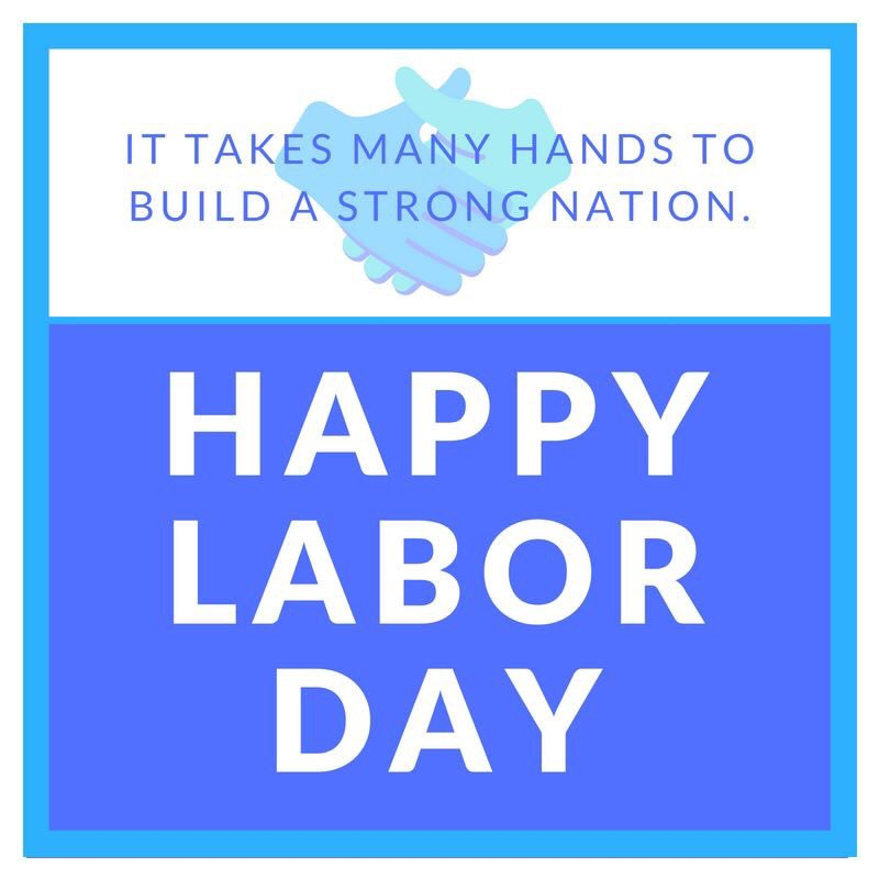 Today we celebrated the backbone of our communities -- the American worker. Happy #LaborDay! https://t.co/2Jjso49Oje
