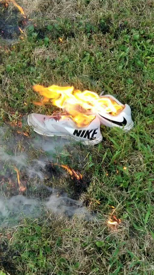 Americans are burning their Nike sportswear (made with slave labor in China)
