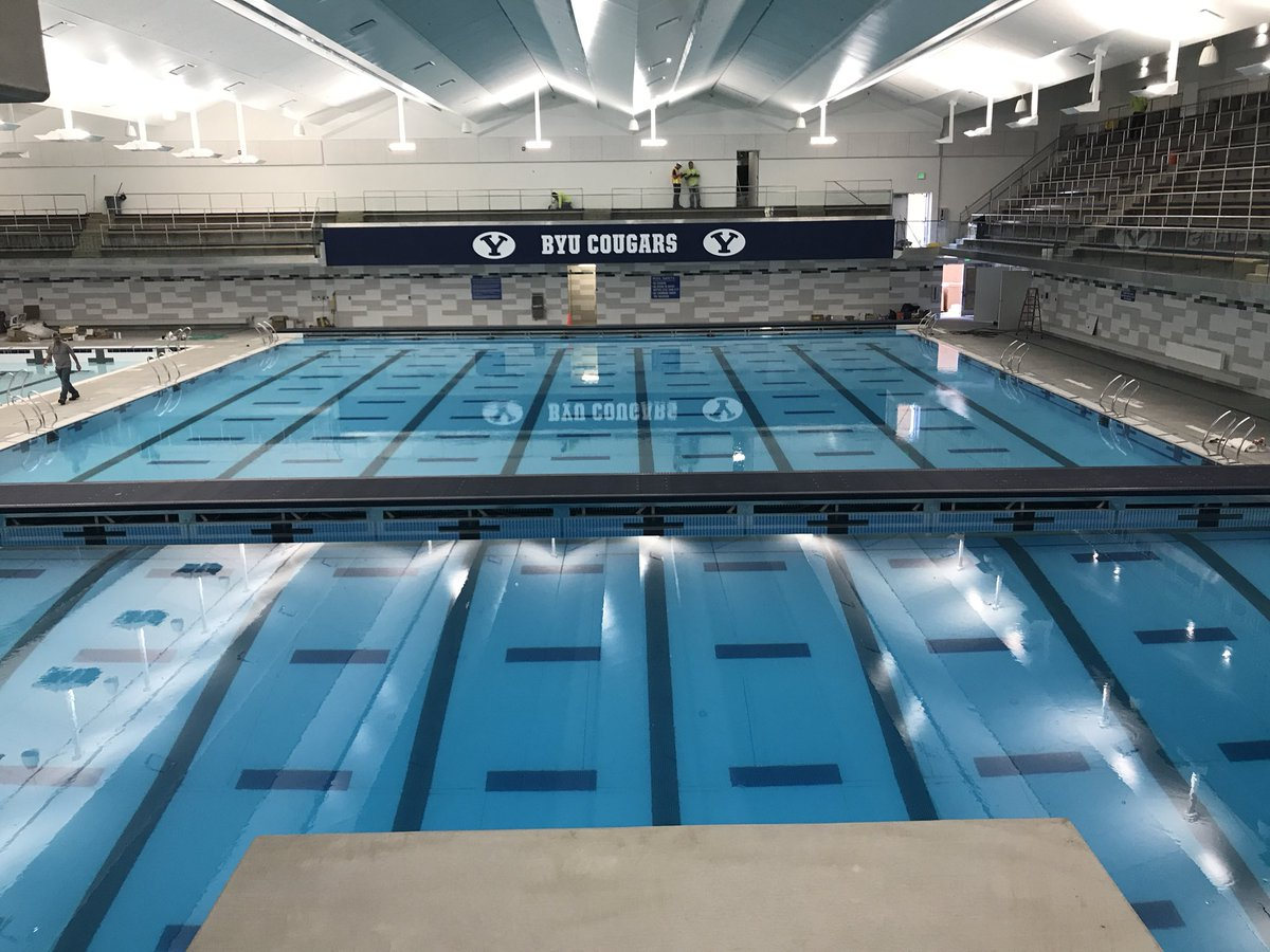 john brooks on twitter welcome to the new byu pool byuswimdive