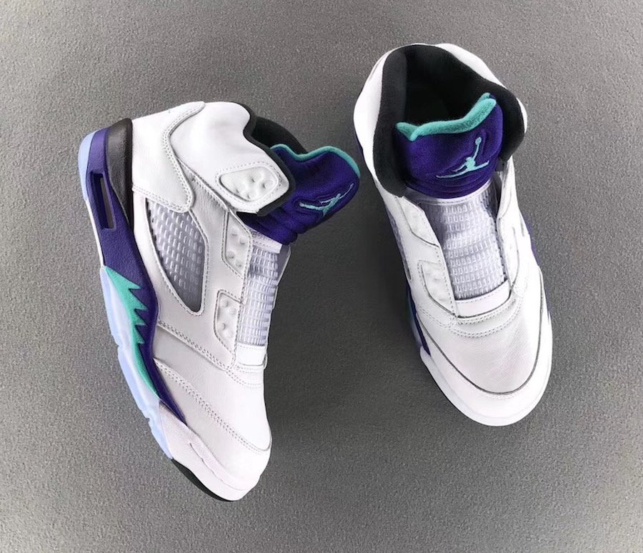 "9313d1f3eb35 Air Jordan 5 NRG ""Fresh Prince"" Color  White Grape Ice-Black-New Emerald  Style Code  AV3919-135 Release Date  September 25"