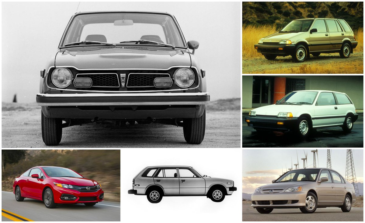 Car And Driver على تويتر Here S A Visual History Of The Honda