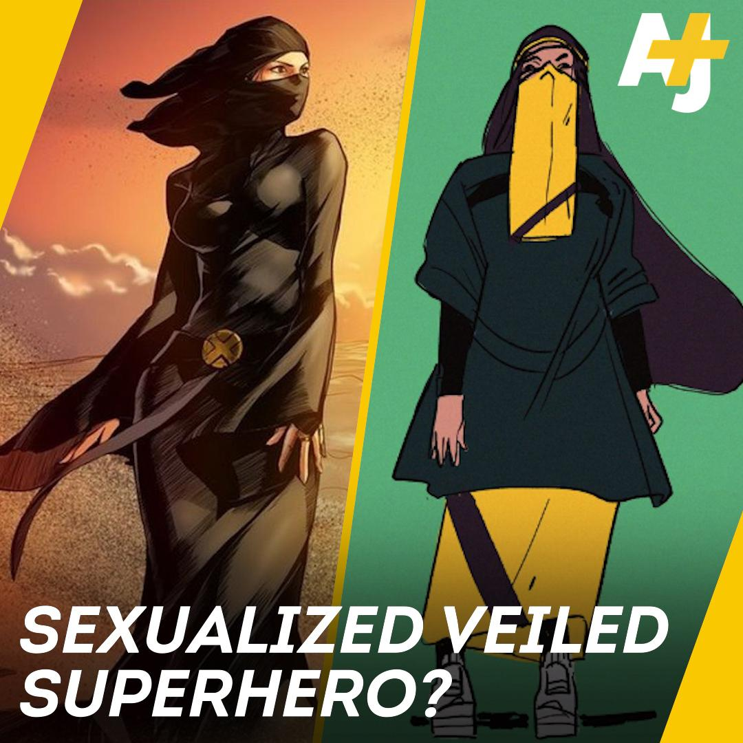 A niqabi X-Men superheroine was being sexualized. So this artist drew her own version: