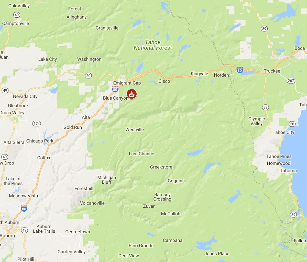 Kron 4 Fire Map.Kron4 News On Twitter Just In Wildfire Near Truckee Forces