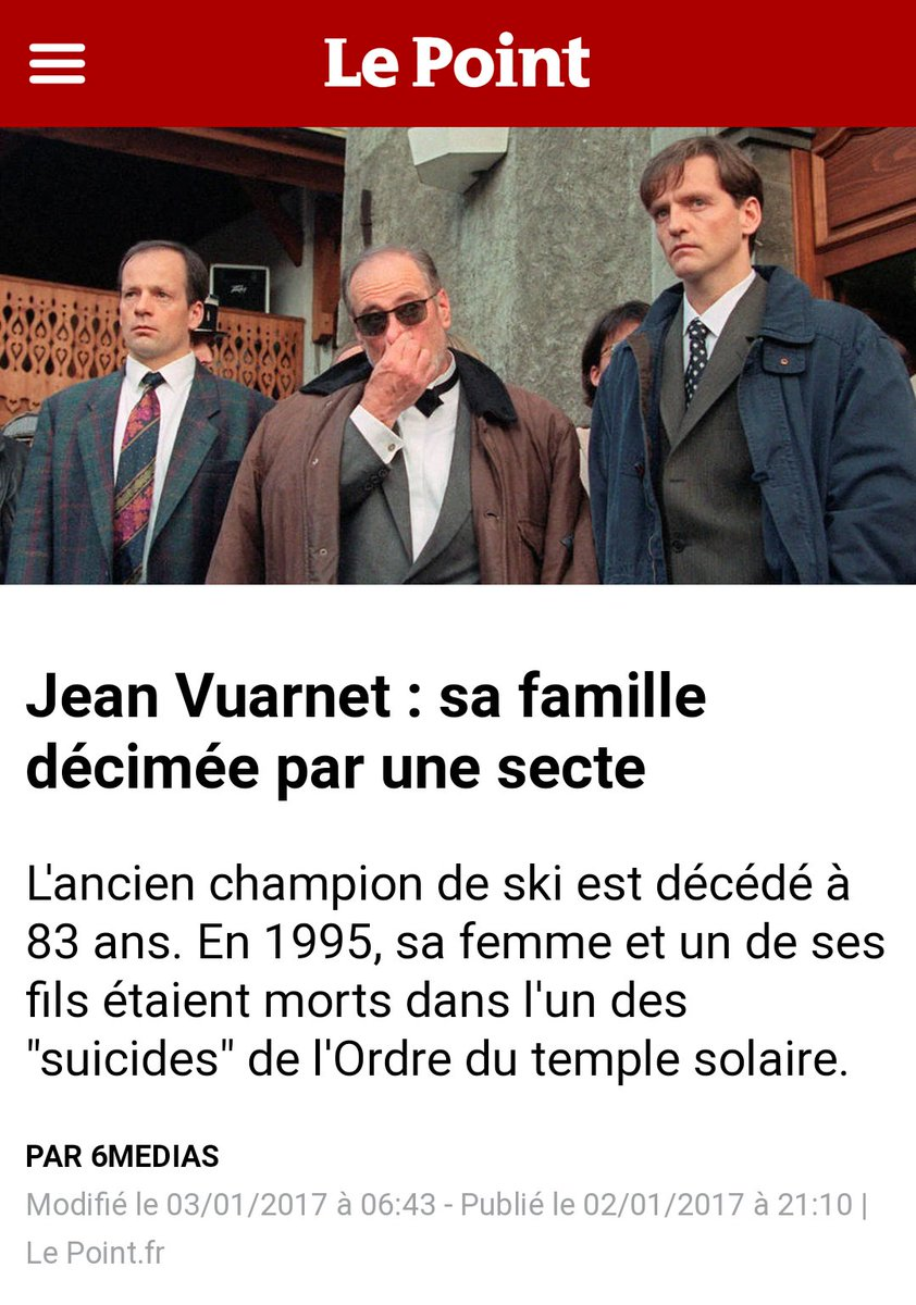 Jean VUARNET, décimé par une secte financée par le vol des biens  (complicité de magistrats qui refusent de POURSUIVRE et de  JUGER).pic.twitter.com  ... b98cbe6a3e10