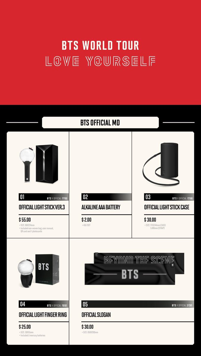 Bts Tour London On Twitter Merchandise For Ly In North America Has