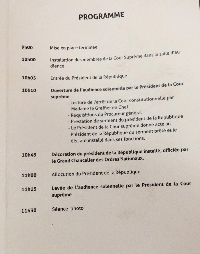 #Koulouba2018 top départ deuxième quinquennat d'IBK dans la salle Bazoumana SISSOKO #Mali3018