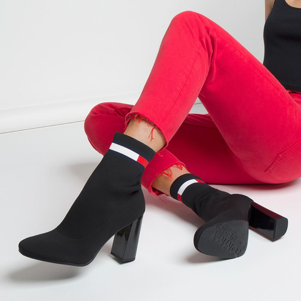 Stretch ankle sock boot