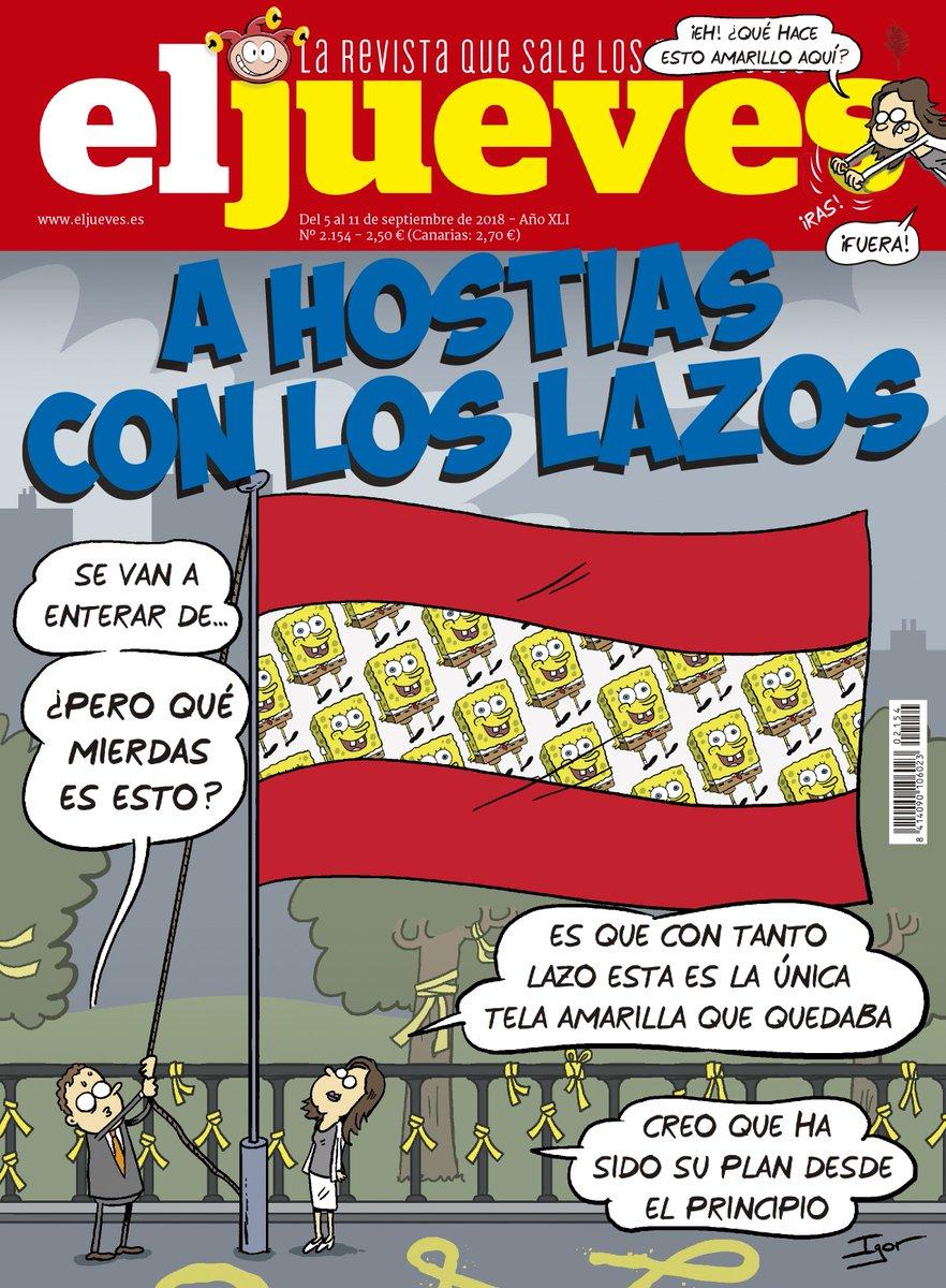 LA PORTADA: ¡La polémica de los lazos amarillos hace peligrar la bandera de España!