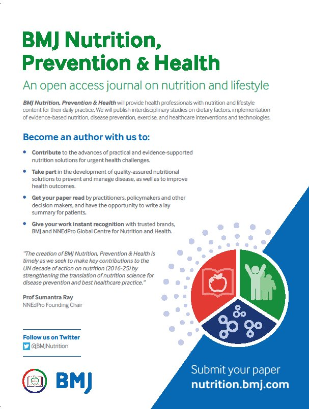 BMJ Nutrition, Prevention & Health on Twitter: