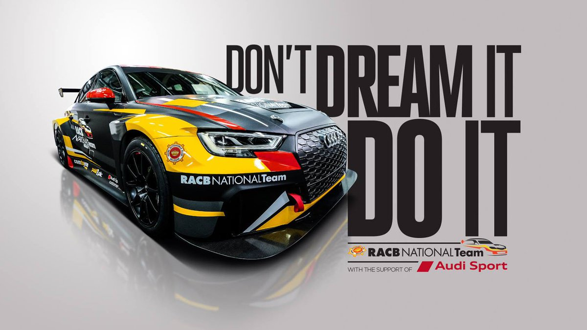 """Calling the Belgians! Dont miss your chance with the @RacbTeam to apply for the opportunity to win a cockpit in an Audi RS 3 LMS from @ComtoyouRacing for the 2019 TCR Benelux season. Find out more -> racbnationalteam.be """"Don't dream it – do it"""" #TCR #LeagueofPerformance"""