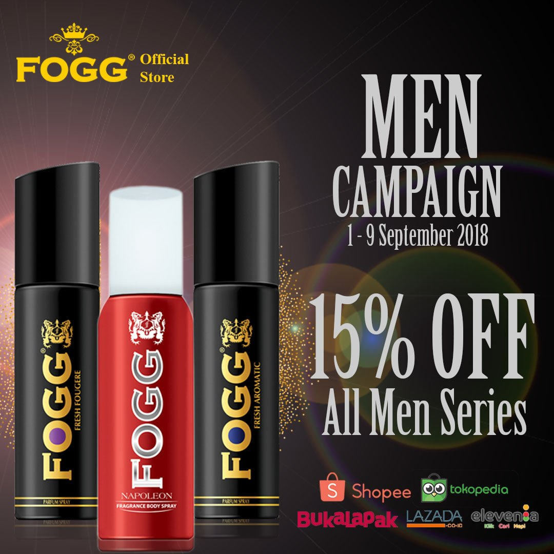 storesendindonesia Promo Fogg kini datang lagi buat para lelaki sejati! Nikmati promo all men series promo 15% untuk varian regular dan black series ukuran ...