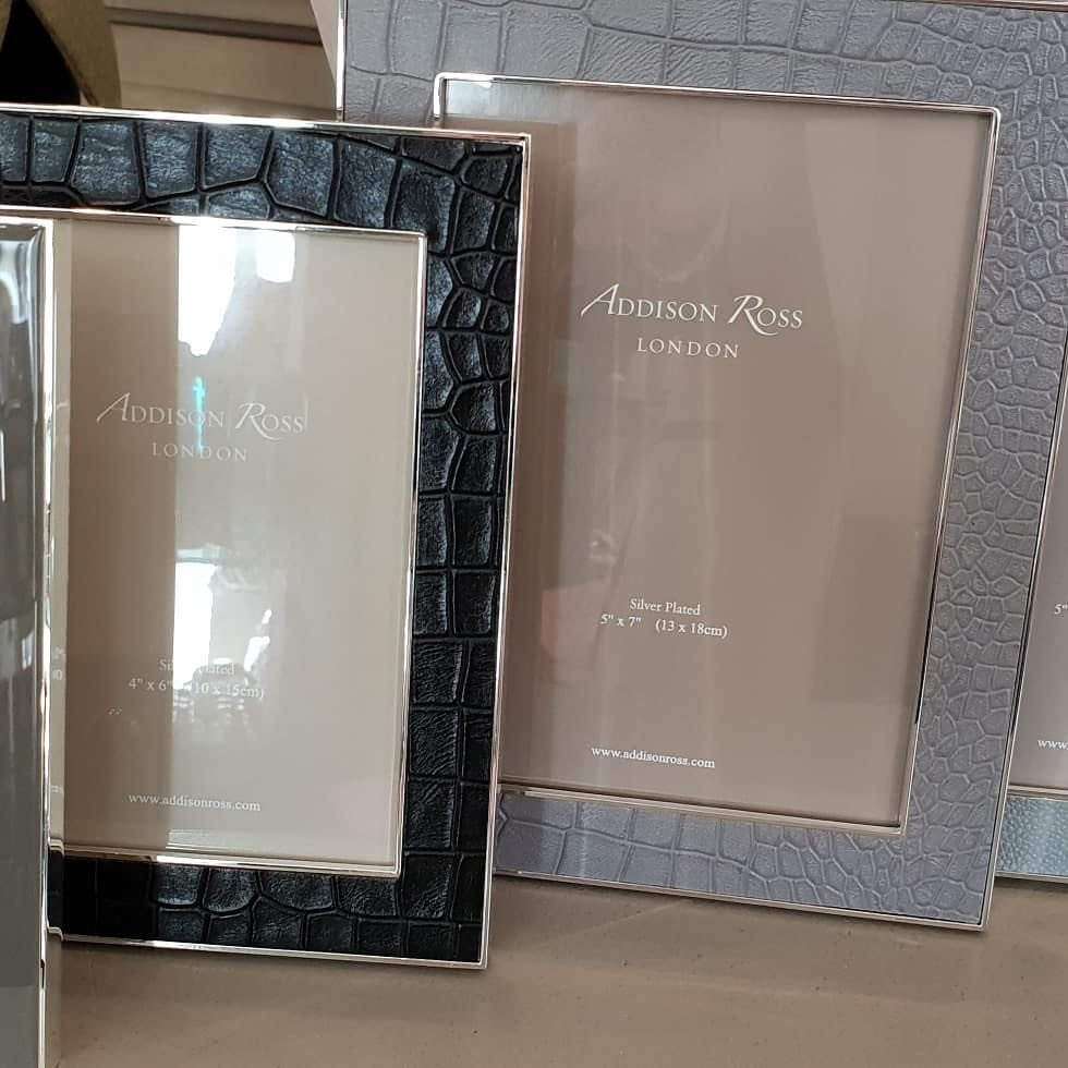 1873b8e5cb9 Brand new  addisonross picture frames have arrived. Beautiful shades of  greys and taupes black croc and shagreen. Gorgeous clocks and trinket boxes.
