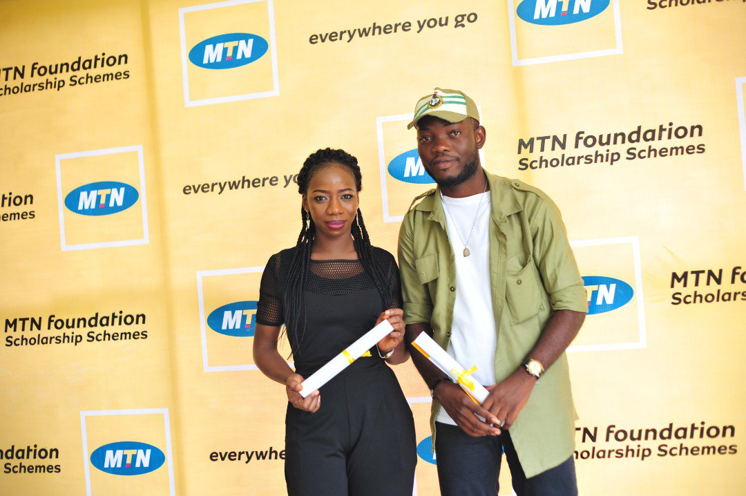 Jude and Fatima have  been scholars of the @MTNFoundationNG Scholarship scheme since their second year in the University.@MTNFoundationNG paid for their tuition, Feeding, books & upkeep. Today, both of them are corp members of the federal republic of Nigeria #MTNFScholarships2018 https://t.co/FcYM29vUAg