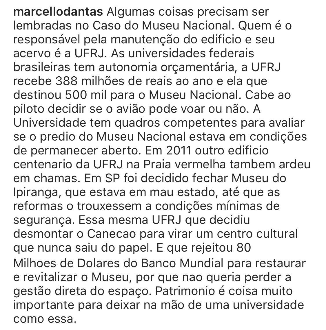 Um especialista em museus define de forma clara quem é o principal responsável pela tragédia do Museu Nacional: agora é hora da UFRJ dar satisfação ao povo brasileiro
