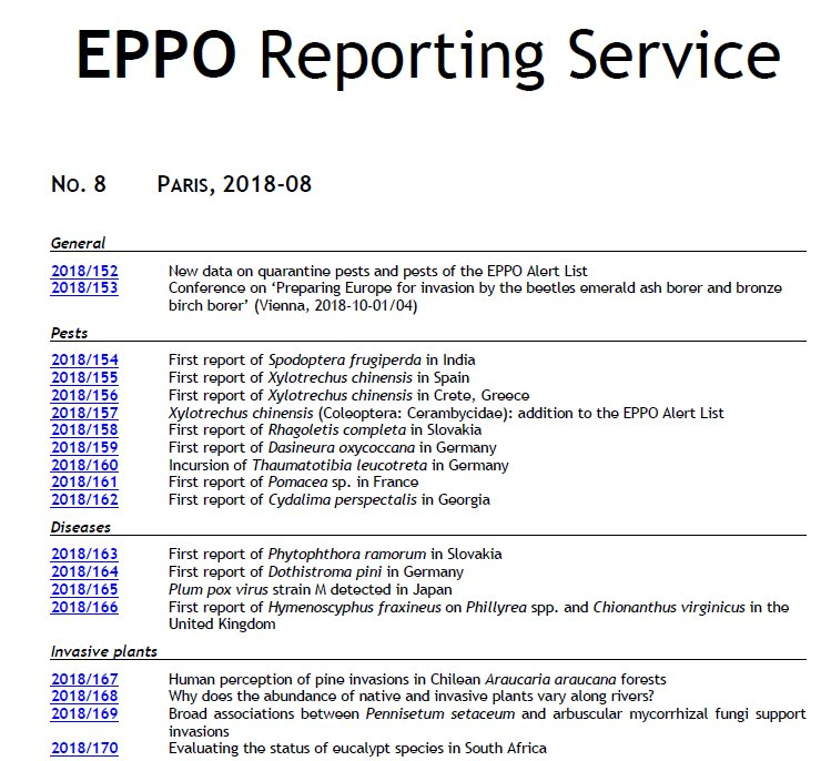 EPPO Pest Risk on Twitter: