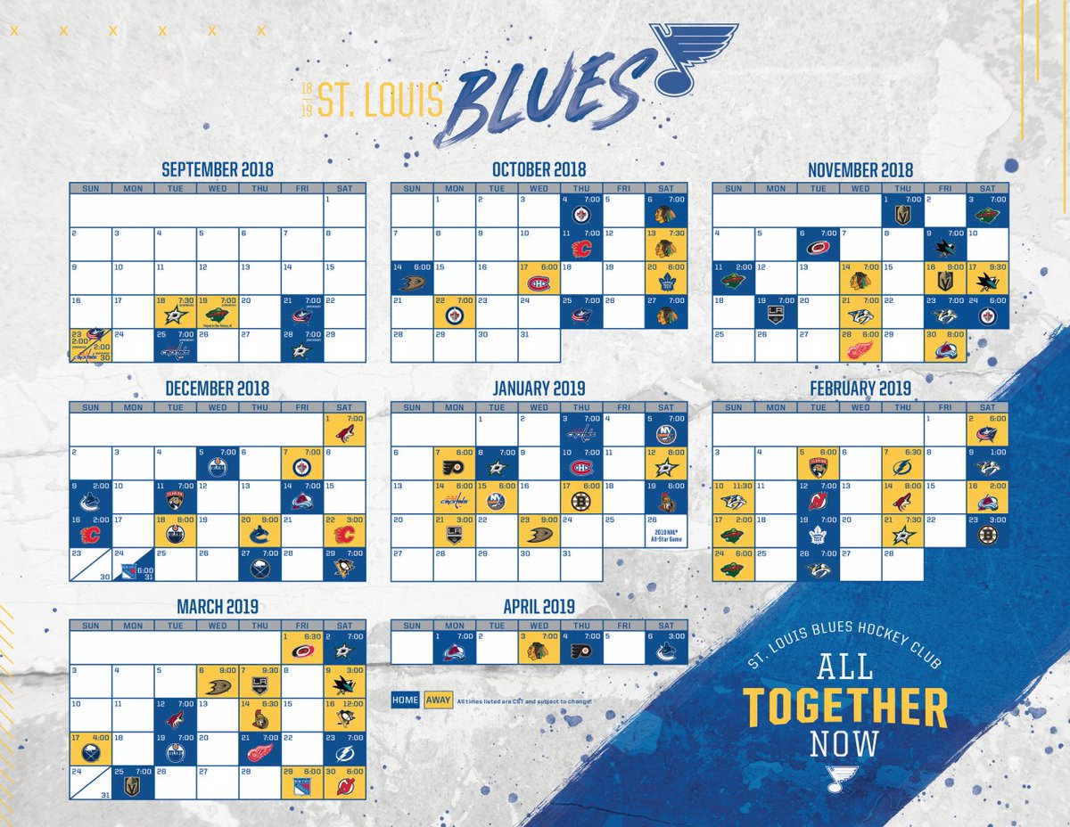 image regarding St Louis Blues Printable Schedule called St. Louis Blues 🏆 upon Twitter: \
