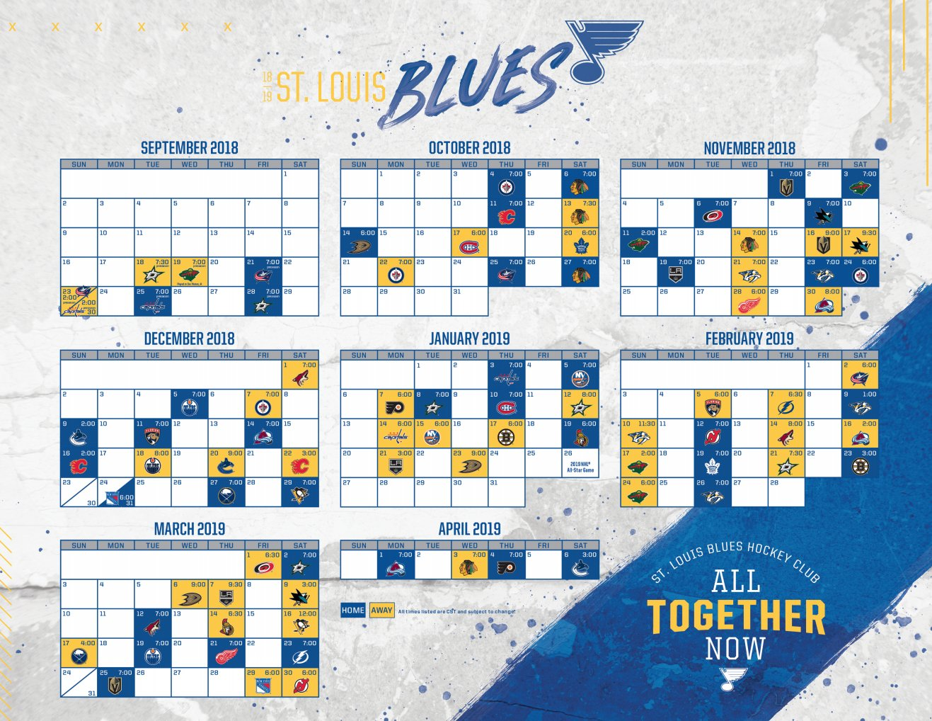 Universal image with regard to st louis blues printable schedule