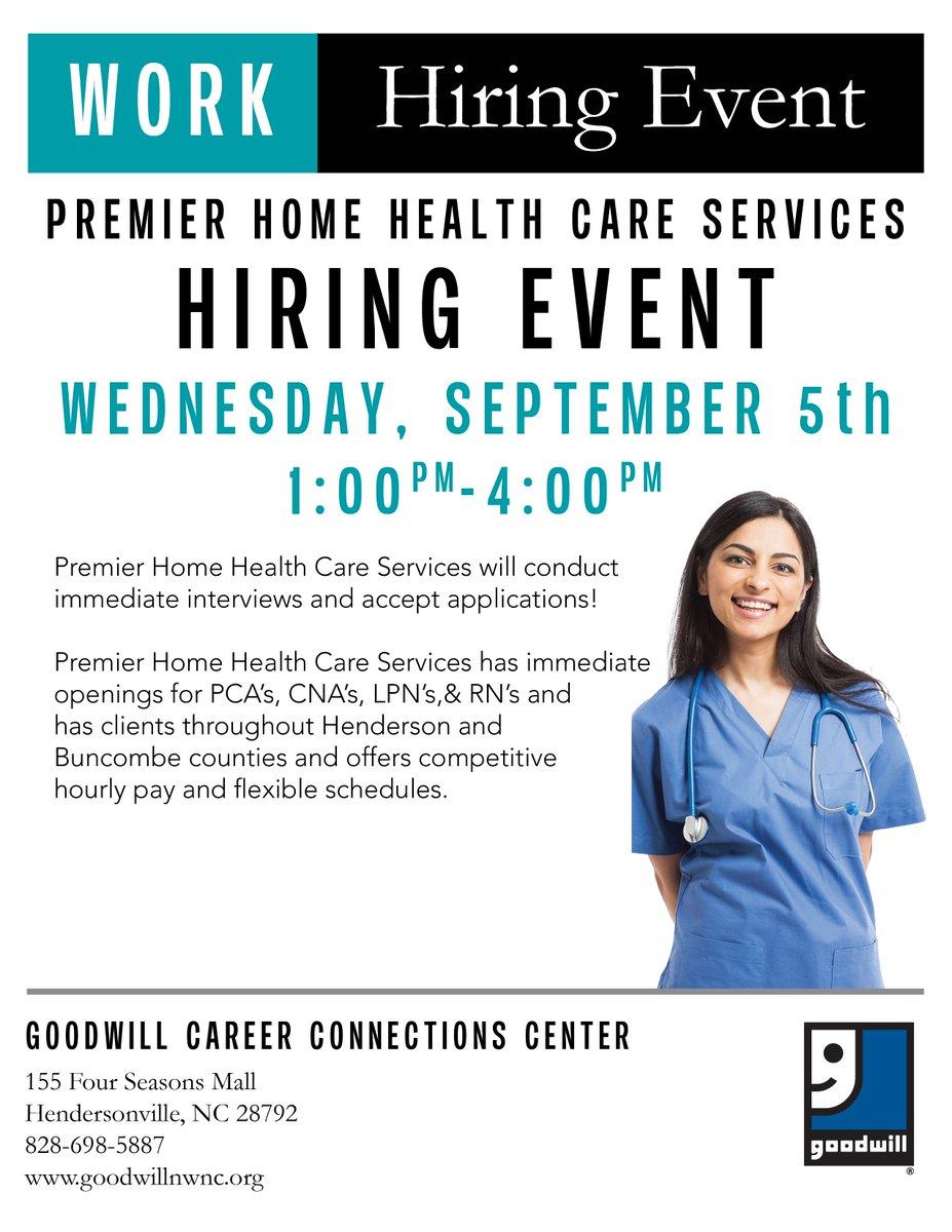 Goodwill Northwestnc On Twitter Premier Home Health Care Hiring