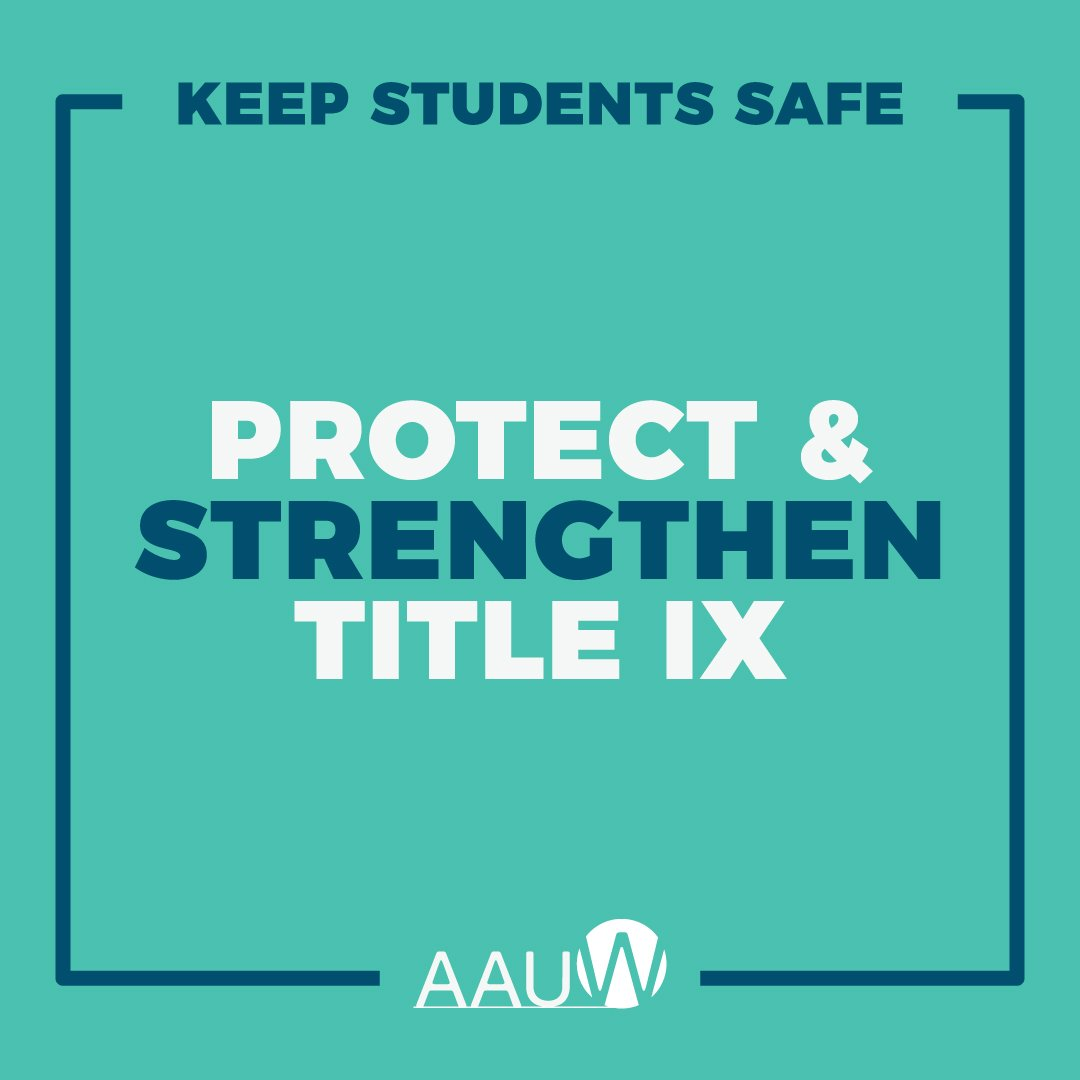 New Guidance To Help Protect Student >> Aauw On Twitter Schools Need Clarification Guidance On Their