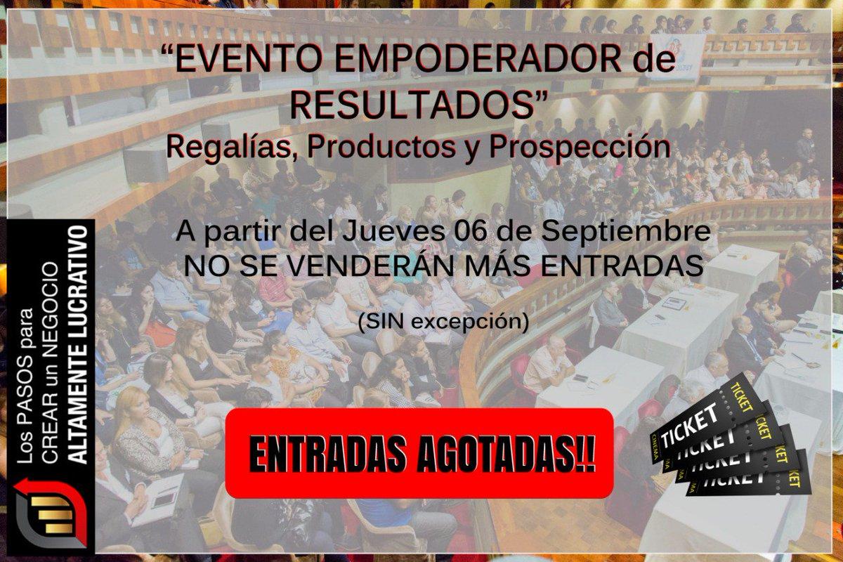IMPORTANTE !!!! ENTRADAS AGOTADAS !!!! https://t.co/RrwXTMiYkg