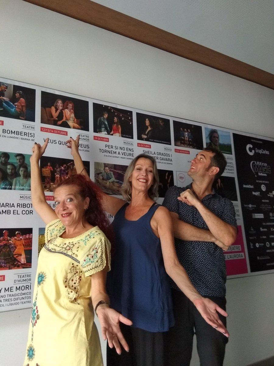 Aquesta setmana estem al @teatreaurora assajant #VeusQueNoVeus amb la @noelbitg i en Joan Arqué. #VeusQueNoVeusEnProcés