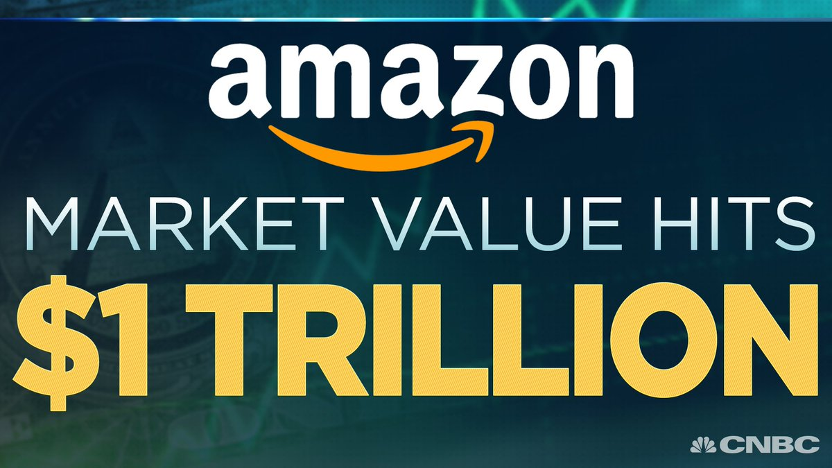 BREAKING: Amazon's market value hits $1,000,000,000,000, becoming the 2nd publicly-traded U.S. company to reach the level.  https://t.co/3vnr1blgx3