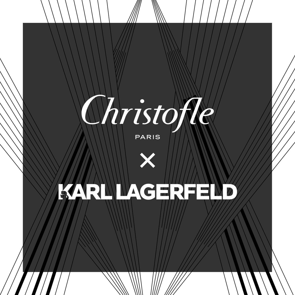 """Coming soon: a #collaboration with @KARLLAGERFELD for an exclusive edition of the """"MOOD"""" #flatware set and #decorative case. Inspired by #Art deco art and architecture, the #KARLLAGERFELD design features graphic lines engraved on the elliptical egg shape."""
