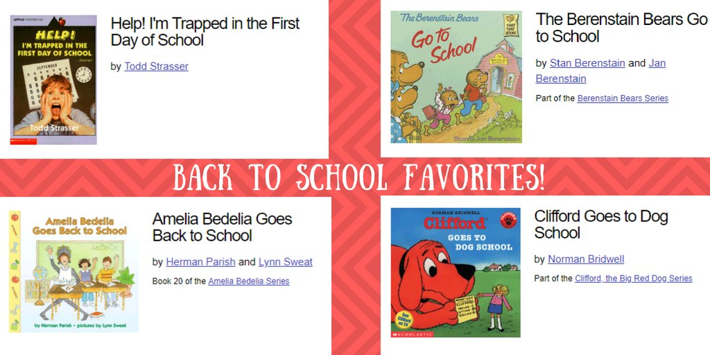 test Twitter Media - Happy First Day of School for all those returning to classrooms today! Check out some of our favorite series' back-to-school books with resources available on TeachingBooks! https://t.co/fTwsXZntYi