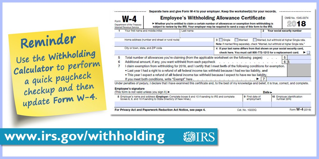 Irs On Twitter Get The Steps On Filing A New W 4 After You Do A