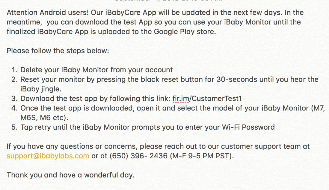 Ibaby Labs On Twitter Hi Rachel We Sincerely Apologize For The