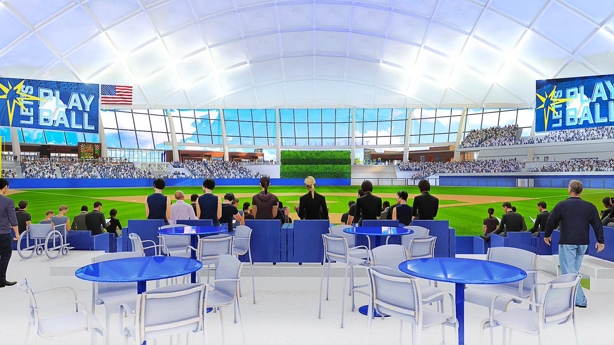 tampa bay rays di twitter with a capacity of just 30 842 the design for our new ballpark makes it the most intimate in mlb with a variety of new seating types tell tampa bay rays di twitter with a
