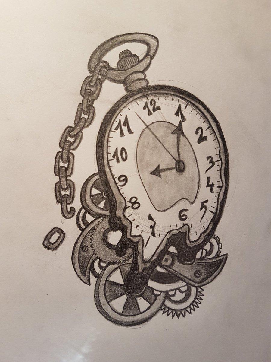 Jesús Guzmán On Twitter Reloj Por Encargo Para Un Tatuaje Boceto