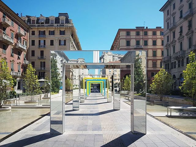 #DanielBuren #PiazzaVerdiLaSpezia #stripes #PublicSpace #ConceptualArt #ContemporaryArt https://t.co/EPvDbZIesm