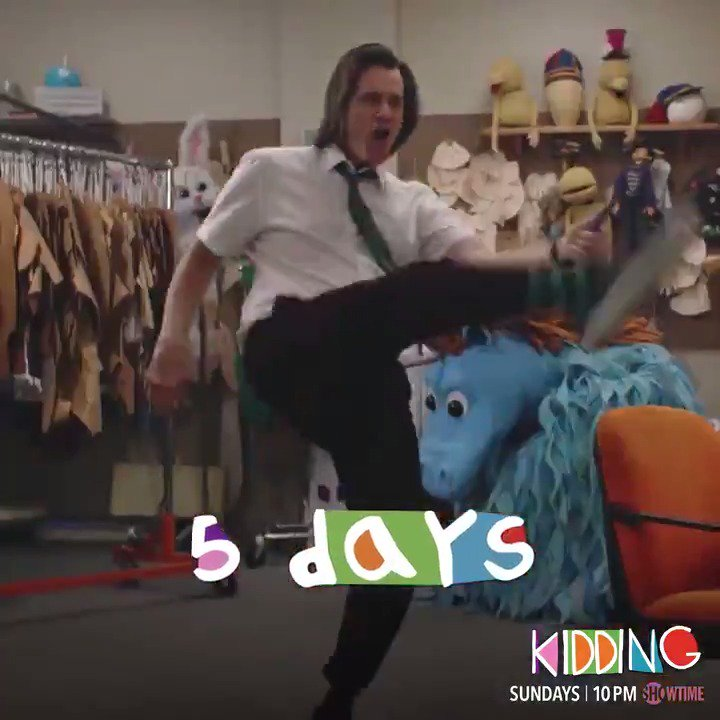 Dancing with excitement because #Kidding premieres in 5️⃣ days on #Showtime! 🕺
