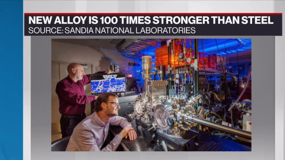 """""""If we can engineer one that wears 100 times less or slower, that means we can use 99% less material."""" 🎛️ Nicolas Argibay talks with @BNNBloomberg about how his team created the world's most wear-resistant #metal alloy http://bit.ly/2wwYAUS"""