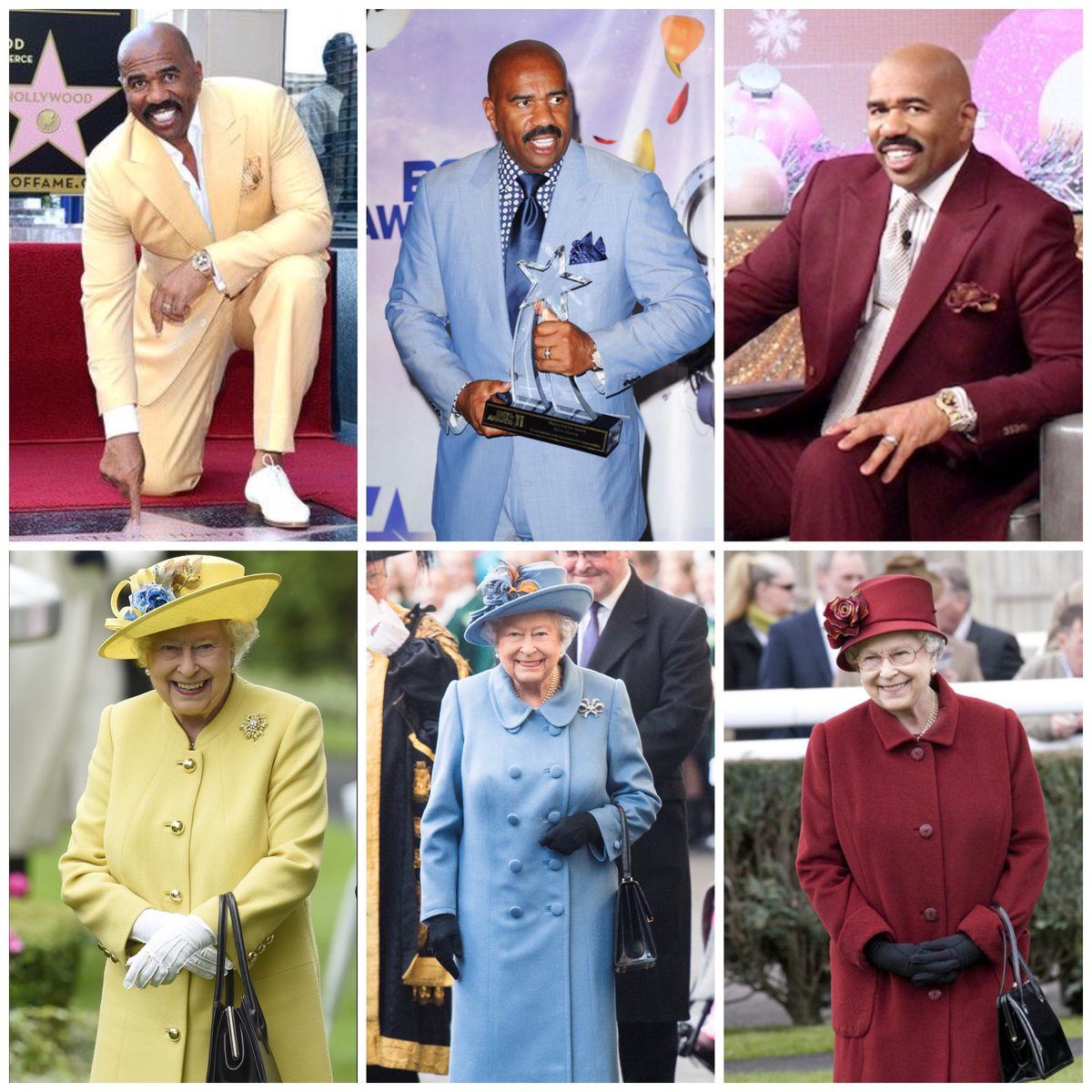 Queen Elizabeth dresses like she's about to go to prom with Steve Harvey