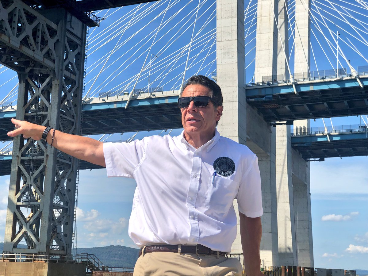 Andrew Cuomo Auf Twitter People Talked For Decades About Replacing The Old Tappan Zee Bridge We Re Actually Getting It Done The Second Span Of The New Gov Mario M Cuomo Bridge Opens