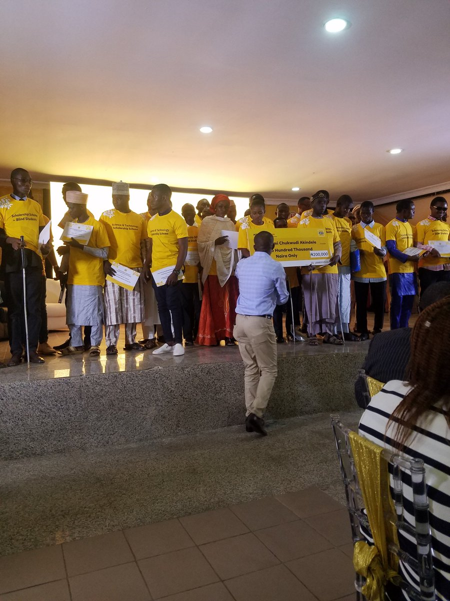 I attended @MTNFoundationNG scholarship award ceremony of 90 blind students in Nigerian universities and some worthy students in science and technology.. Hugely inspired by testimonies from some of the alumni of the scheme. https://t.co/dxzXhEwqWZ