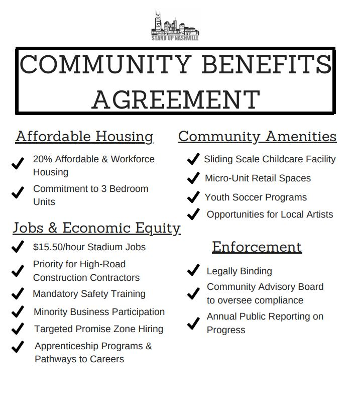 Harrietwallacefox17 On Twitter Community Benefits Agreement Could