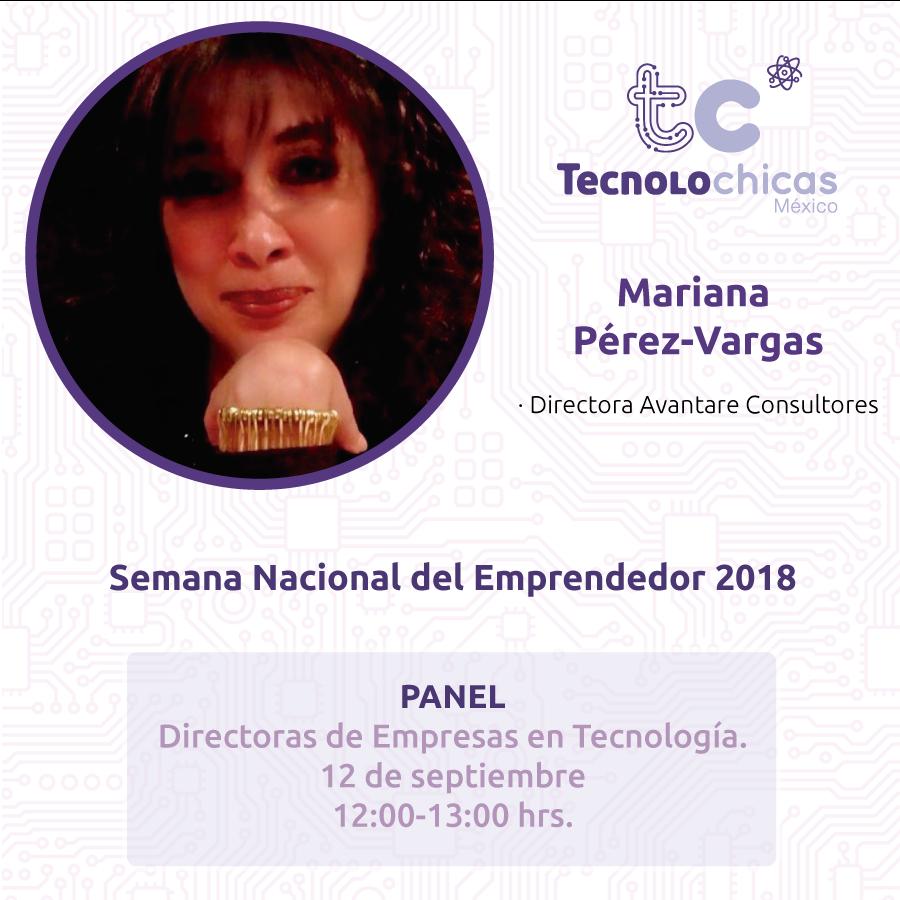 Acompáñame esta Semana Nacional del Emprendedor junto con #TecnolochicasMx al panel: Directoras de Empresas en Tecnología. ¡Los esperamos! #TCMX #Avantare #TI #SemanaEmprendedor