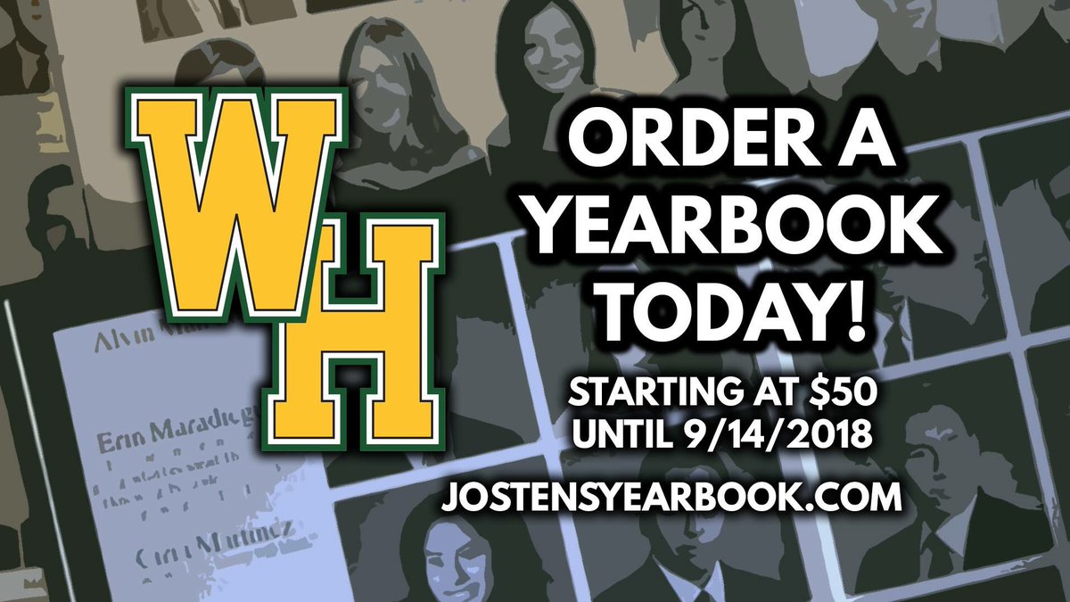 Yearbooks may now be ordered with an early bird discount if you buy before September 14th! Reserve yours today!