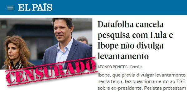 O medo é incontrolável: Ibope e Datafolha escondem pesquisa com Lula - https://t.co/RqlwJOSxWs